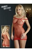 Платье из сетки-красное