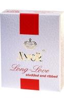 Презервативы Amor-Long Love с ребристой поверхностью и эффектом продления полового акта 3шт
