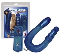 Анально-вагинальный вибратор Sex Talent синий 32см