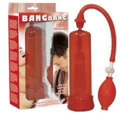 Помпа для увеличения члена Bang Bang красная