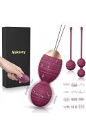 Набор силиконовых шариков гейши Maksexy с дистанционным управлением